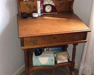 Beautiful old oak secretary/desk