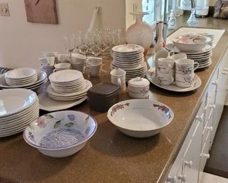 Some of the kitchen dishes, there are some kitchen electronics as well