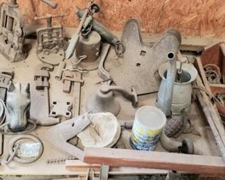 Dusty treasures in the work shop