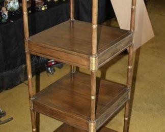 "Baker Furniture 4-level Etageres - $390 - 17""x 17""x 47 1/4"""