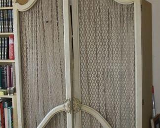 Baker Furniture Shelf with draped doors - $ 350