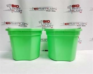 """8:  Two (2) 20 Qrt. Flat back bucket, 11"""" tall. Made in USA. Two (2) 20 Qrt. Flat back bucket, 11"""" tall. Made in USA."""