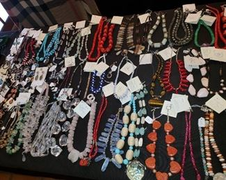 Our client made and sold super high end jewelry-all natural stones using only sterling and gold  hardware