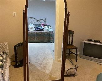 Antique stand up mirror