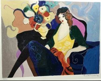 https://www.ebay.com/itm/114766581647CF7001T Itzchak Tarkay COLORFUL WOMAN WITH FLOWER VASE (37 3/5 IN X 23.5 IN)Auction
