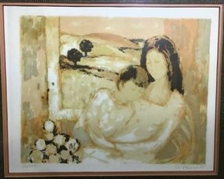 https://www.ebay.com/itm/124680934935CF7002T André Plisson (French b.1929) framed and matted lithograph under glass WOMAN HUGGING SON NEUTRAL WITH YELLOW 1966 (28.25 IN X 24.75 IN)Auction