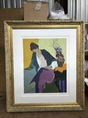 "CF7007Bhttps://www.ebay.com/itm/124680934936CF7007B Itzchak Tarkay WOMAN SITTING NEXT TO PLANT 129/300 (30 5/16 X 34 5/8"")Auction"