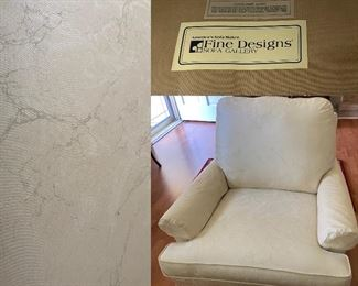 Fine Designs Sofa Gallery Cream/White Upholstered Arm Chair
