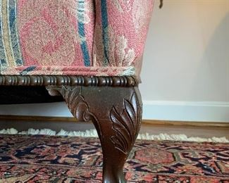 Chippendale sofa leg detail