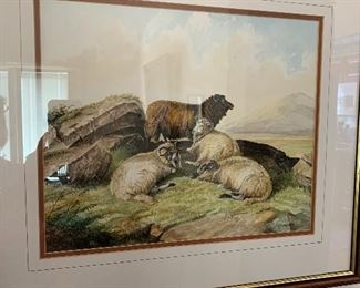 Watercolor by listed artist K.J. Westwood