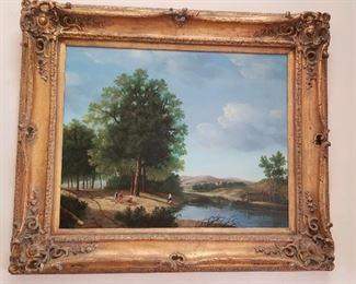 Magnificent oil on canvas landscape. Nicely framed