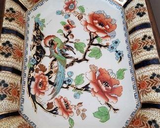 Losol Ware fruit dish closeup