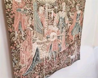 Taysseer Mardini signed Renaissance style tapestry