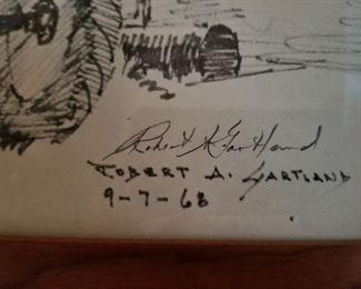 Signature closeup Robert A Gartland