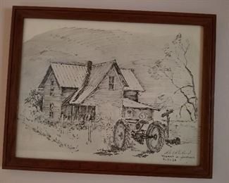 Robert A. Gartland, signed and dated lithograph. Listed artist