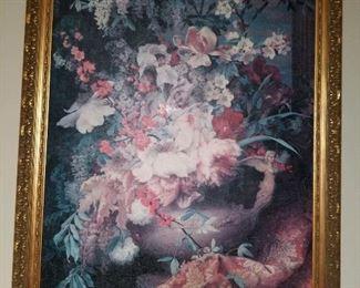 Floral still life, framed print