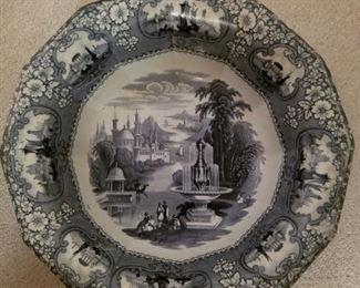 "19th century Staffordshire transfer ware bowl  ""Medina"""
