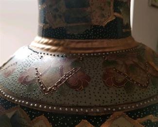 Oriental vase closeup