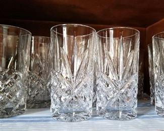 Lead crystal highball glasses
