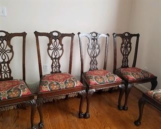 Chippendale dining chairs - set of 8, early 1800's