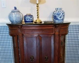Classical style bar cabinet