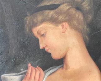 Closeup of portrait