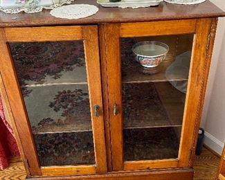 Antique bookcase/glass doors