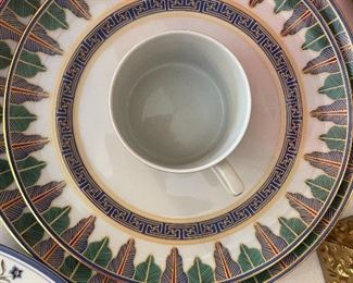 """Mottahedeh place setting - """"Charleston Feather"""""""