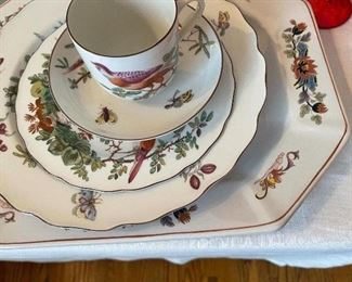 """Mottahedeh place setting - """"Chelsea Bird"""""""