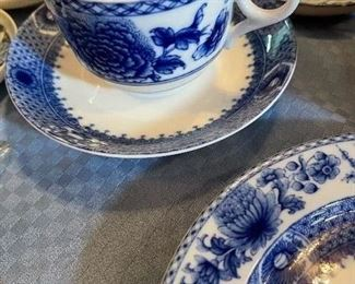 """Mottahedeh cup/saucer - """"Blue Canton"""""""