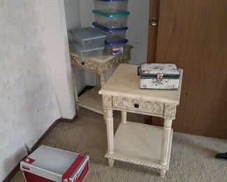 2 provincial nightstands