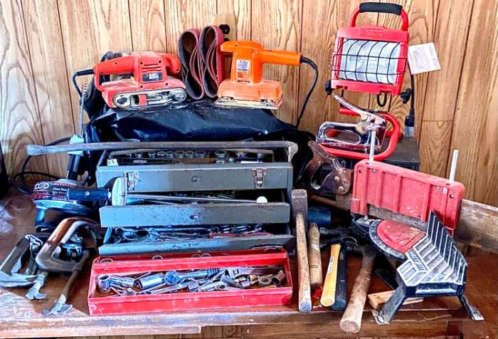 B and D Sanders Toolbox Stuffed with Tools Plus