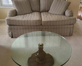 Bernhardt Loveseat and Coffee Table
