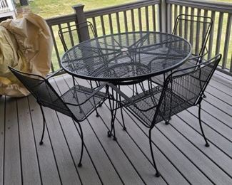 Patio Set and Weather Cover