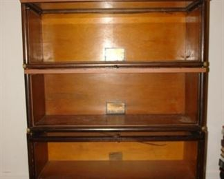 Antique Three Stack Barrister Bookcase