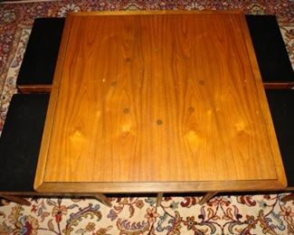Four Nesting Tables Shown Underneath Drexel Coffee Table - Circa, 1961