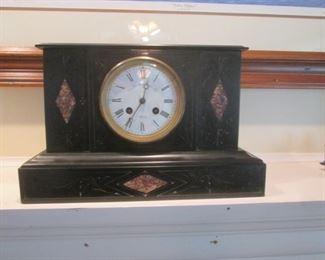 Antique Black Slate Clock