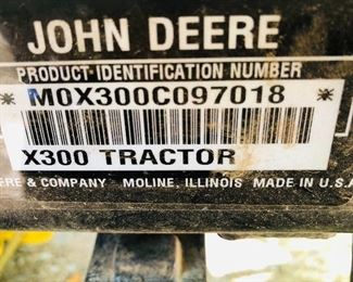 The John Deere Product ID Number