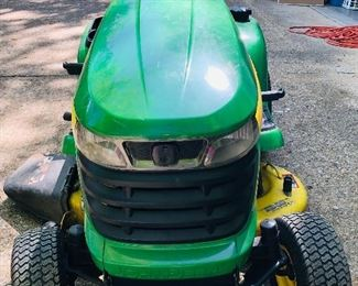 Front View of the John Deere Tractor Lawn Mower