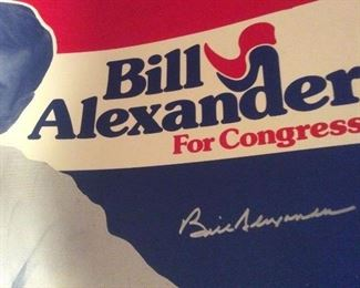 Campaign Posters Personally autographed with a silver sharpie , w/ COA !    ONE-OF-A-KIND