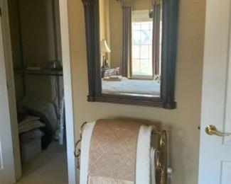 Gorgeous wooden mirror.