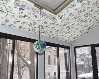 $70 -- hanging glass ball