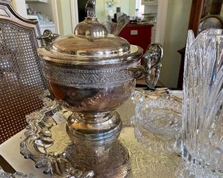 Antique Silver Soup Tureen