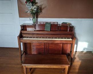 Kimball Piano with bench.