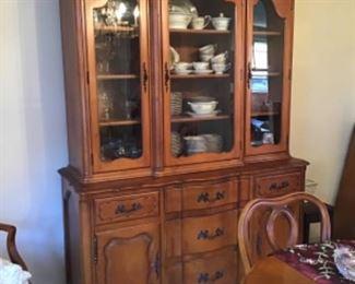 Carlton House Dining Room Set - China Cabinet, Set of Dishes
