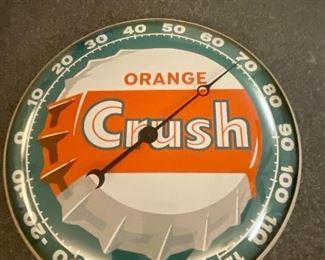 Vintage orange crush soda thermometer