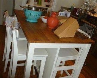 Counter-height kitchen table & stools
