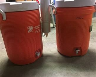 2 - 3 GALLON Orange Water Coolers