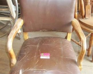 Vintage brown leather office chair