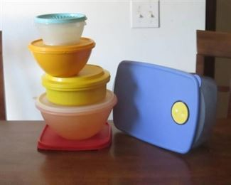Vintage Tupperware containers and lids